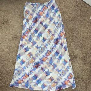 Watercolor Midi Skirt